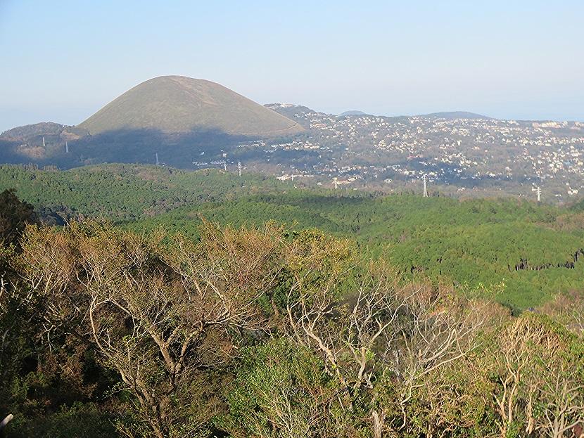 伊雄山の頂上から 大室山